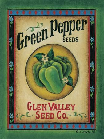 Green Pepper Seeds by Kim Lewis