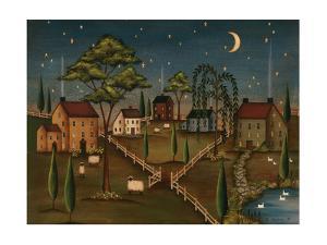 Village Night by Kim Lewis
