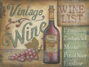 Wine List by Kim Lewis