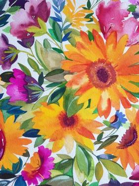 Orange Gerber Daisies 2 by Kim Parker