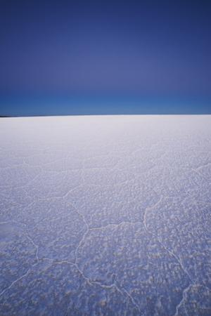 Deserted Salt Flats at Twilight, Salar De Uyuni, Bolivia, South America by Kim Walker