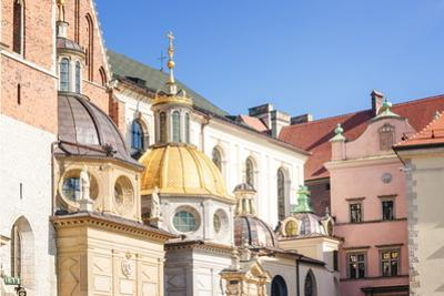 Exterior of Krakow Cathdral, Wawal Hill, Krakow, Poland, Europe by Kim Walker