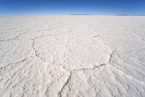 Hexagonal Shaped Salt Flats, Salar De Uyuni, Bolivia, South America by Kim Walker