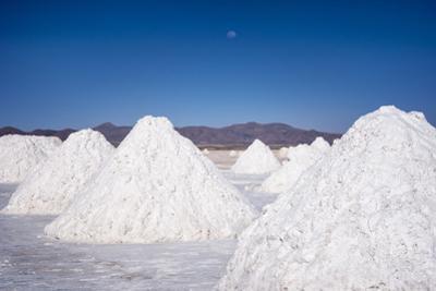 Salt Mounds Extracted from Salt Plains, Salar De Uyuni, Colchani, Bolivia, South America by Kim Walker