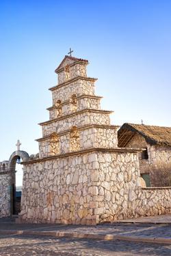 San Cristobal Stone Church, Mining Village, San Cristobal, Bolivia, South America by Kim Walker