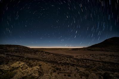 Star Trails over the Salar De Uyuni Salt Flats, Bolivia, South America by Kim Walker