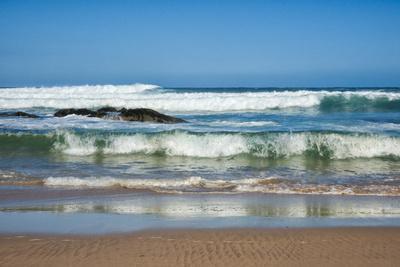 Waves Crashing Ashore from Indian Ocean