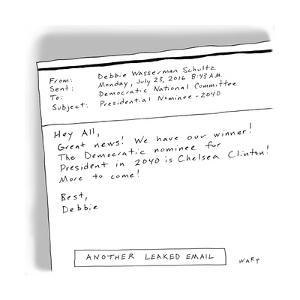 Another Leaked Email - Cartoon by Kim Warp