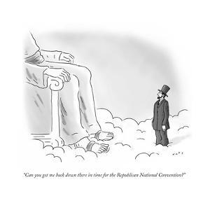 """""""Can you get me back down there in time for the Republican National Conven…"""" - Cartoon by Kim Warp"""