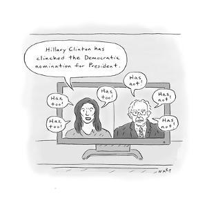 Hillary Clinches Nomination - Cartoon by Kim Warp