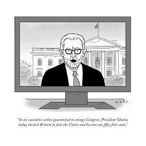 """In an executive action guaranteed to enrage Congress, President Obama tod?"" - Cartoon by Kim Warp"