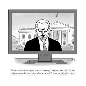 """In an executive action guaranteed to enrage Congress, President Obama tod…"" - Cartoon by Kim Warp"