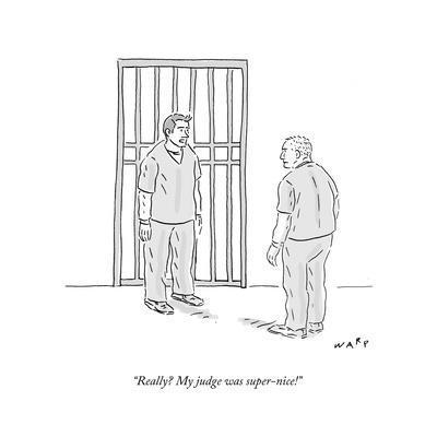 """Really? My judge was super-nice!"" - Cartoon"
