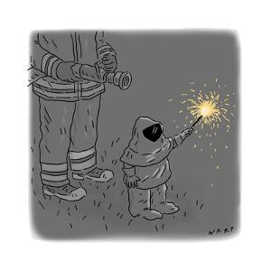 Sparkler Safety - Cartoon by Kim Warp