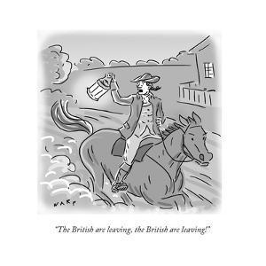 """The British are leaving, the British are leaving!"" - Cartoon by Kim Warp"