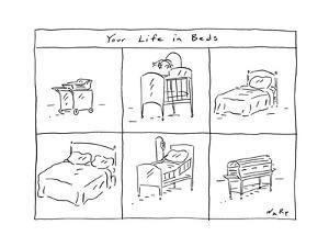 Your Life in Beds - Cartoon by Kim Warp