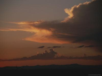 Clouds Fill the Sky at Twilight Over African Plains