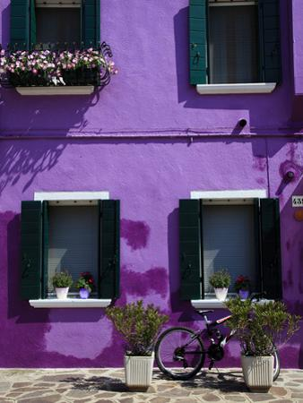 Colourfully Painted Houses Situated on Canal Banks on the Island of Burano, Located Near Venice, Ve by Kimberley Coole