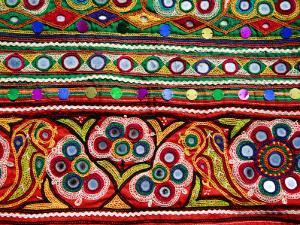 Detail of Embroidered Bag by Kimberley Coole