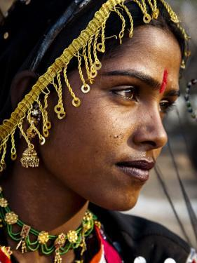 Portrait of Woman at Camel Fair by Kimberley Coole