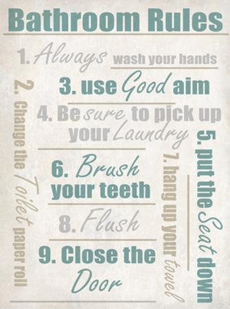 Concrete Bathroom Rules by Kimberly Allen