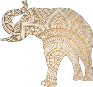 Elephant Gold 1 by Kimberly Allen