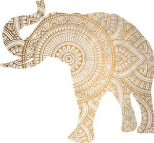 Elephant Gold 3 by Kimberly Allen