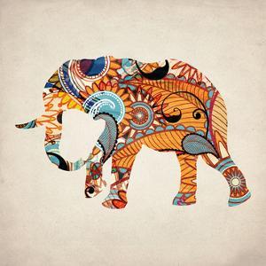 Elephant Orange 1 by Kimberly Allen