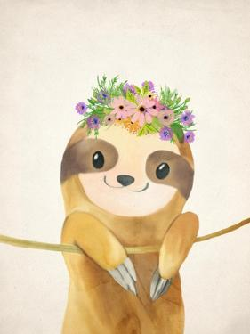 Floral Sloth 1 by Kimberly Allen