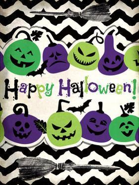 Happy Halloween Pumpkins by Kimberly Allen