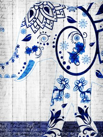 Indigo Elephant 2 by Kimberly Allen