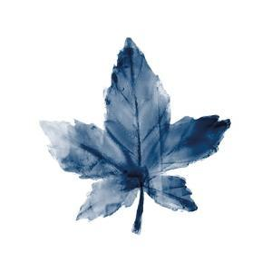 Navy Leaf Print 1 by Kimberly Allen