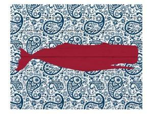 Paisley Whale 1 by Kimberly Allen