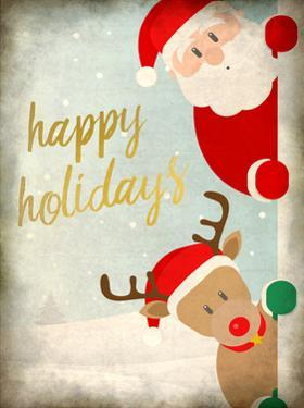Santa and Rudolph by Kimberly Allen