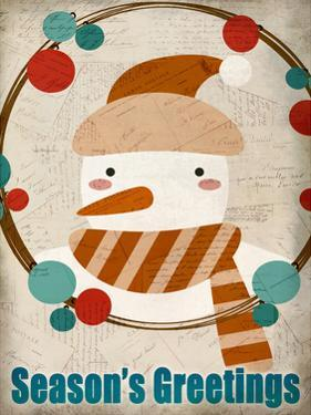 Seasons Greetings Snowman by Kimberly Allen