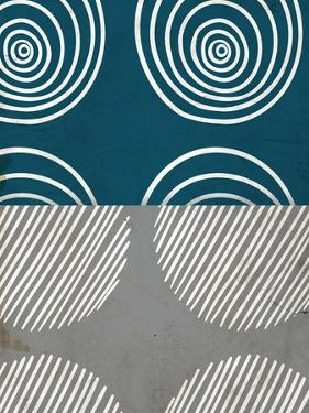 Teal Shapes 1 by Kimberly Allen
