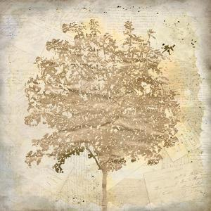 Tree Silhouette Gold Craft 2 by Kimberly Allen