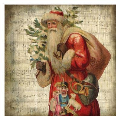 Vintage Santa 1 by Kimberly Allen
