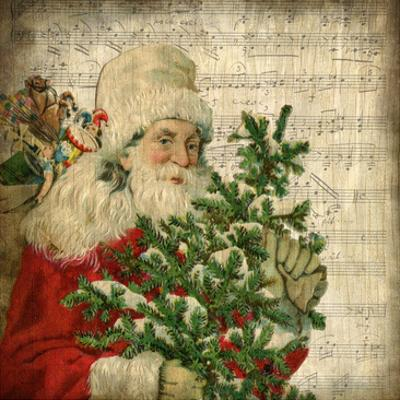 Vintage Santa 2 by Kimberly Allen