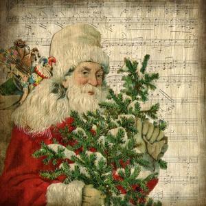 Vintage Santa 2 by Kimberly Allen