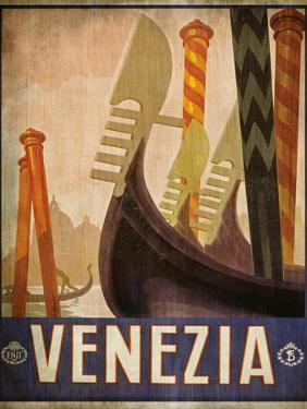 Vintage Travel Poster 2 by Kimberly Allen