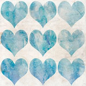Watercolor Hearts 1 by Kimberly Allen