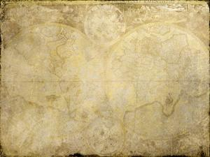 World Map in Gold by Kimberly Allen