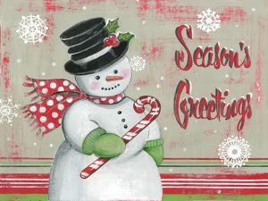 Christmas Snowman II by Kimberly Poloson