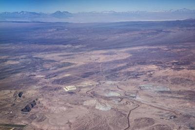 Aerial View of Mine in Atacama Desert in Northern Chile, South America by Kimberly Walker