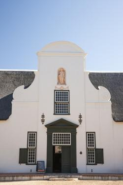 Dutch Colonial White Building at Groot Constantia Winery Estate by Kimberly Walker