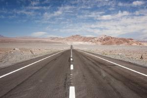 Empty Open Road, San Pedro De Atacama Desert, Chile, South America by Kimberly Walker