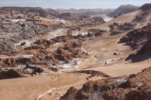 Overview of Moon Valley, Atacama Desert, San Pedro, Chile, South America by Kimberly Walker