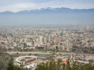 Overview of Santiago from Atop Cerro San Cristobal at Parque Metropolitano De Santiago by Kimberly Walker