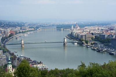 Panoramic View of Danube River and the Buda and Pest Sides of the City from the Citadel by Kimberly Walker